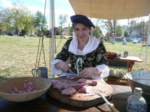 Kathleen Preparing Rabbit