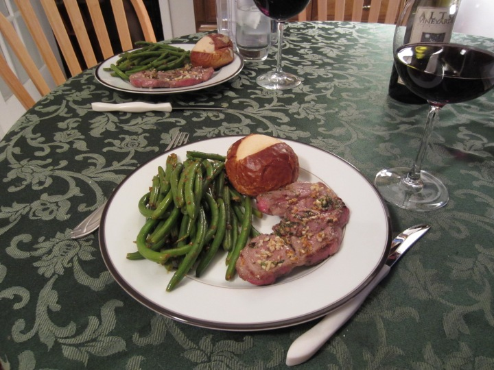 Pan Fried Lamb with Green Beans
