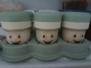 Baby Bullet Jars in the Freezer
