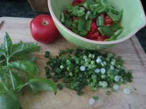 Fresh Ingredients for Pasta Salad
