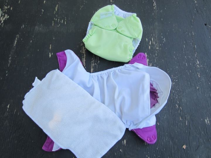 The Insert...that piece of white rectangular material, goes into the pocket of the diaper.
