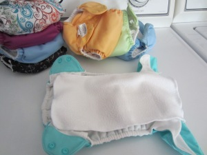 Stay Dry Liner on a BumGenius Cloth Diaper