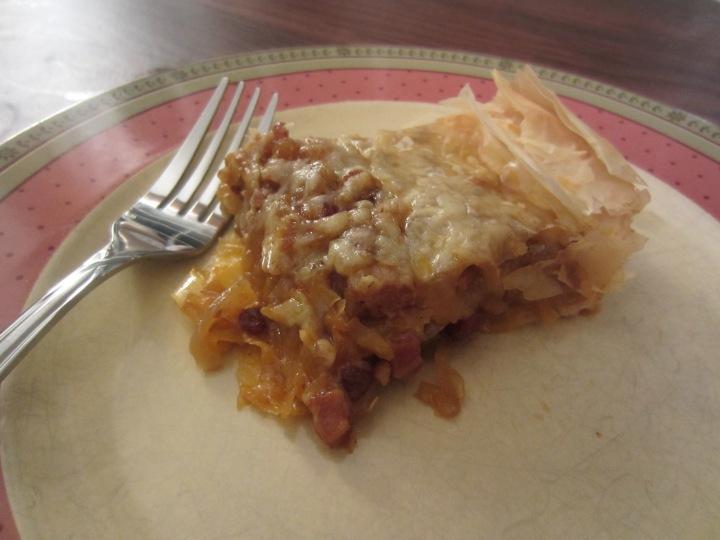 Apple Bacon Pie Piece