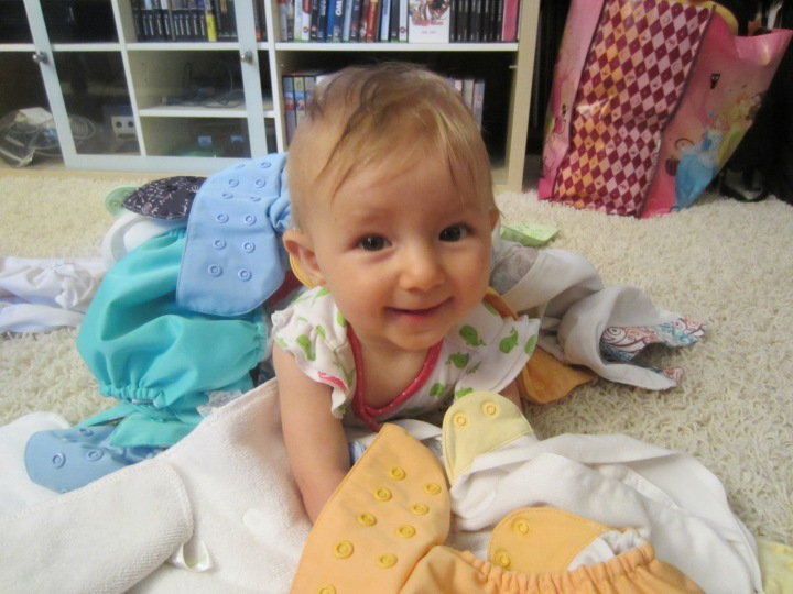 See...Ginny loves her cloth diapers too!