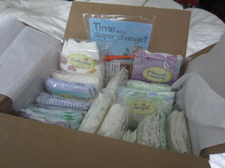 Our Teetering Toddler sample pack of disposables from Diaper Dabbler