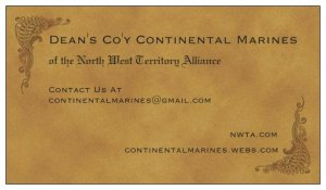 Continental Marines Recruitment Card (Business Card) Front