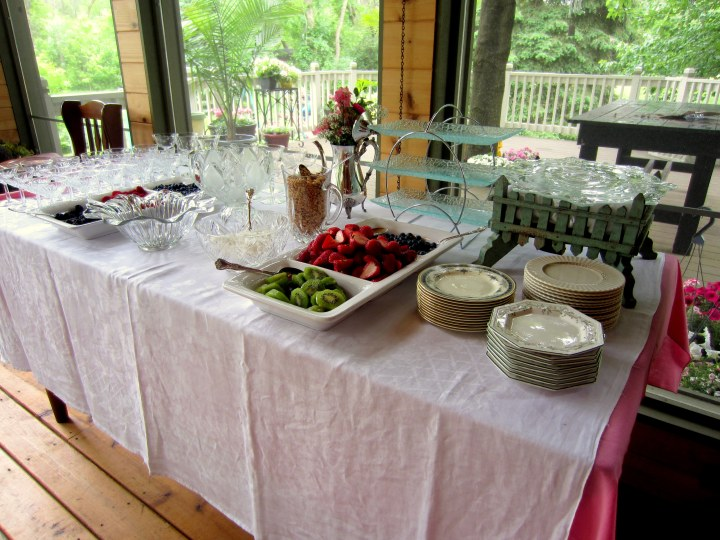 Wedding Shower Yogurt Bar