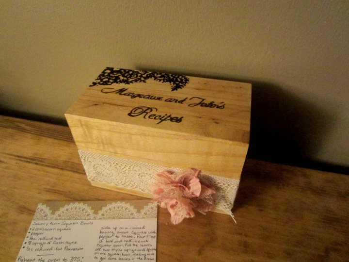 Wood and Lace Recipe Box