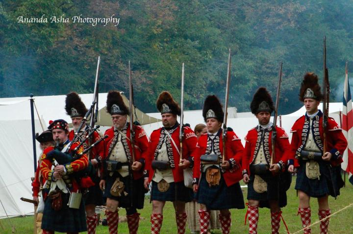 The 42nd on their way to break up the rowdy villagers! Photo is courtesy of Anada Asha Photography.