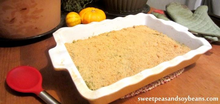 Healthier Green Bean Casserole horizontal
